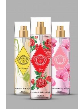 Parfüm Kokulu Vücut Spreyi 3 adet karışık  3x200 ML