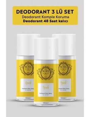 İpek Bayan Deodorant 3 ADET 3X150 ml Afrodizyak İçerikli