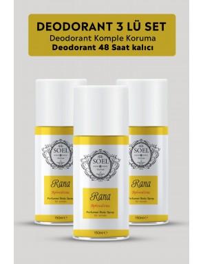 Rana  Bayan   Deodorant 3 ADET 3X150 ml Afrodizyak İçerikli