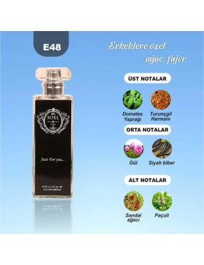 SOEL E48 Erkek Parfüm 50ml EDP